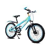 Gehärteter Rahmen Kind Fahrrad männlichen und weiblichen Kinderwagen 16-Zoll-Mountainbike 5-8 Jahre alt Fahrrad ( Color : Blue )