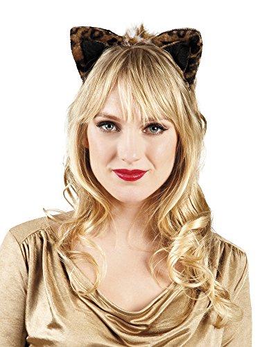 erdbeerclown- Leoparden Ohren Kostüm , Schwarz (Hund Bunny Ohren Kostüm)