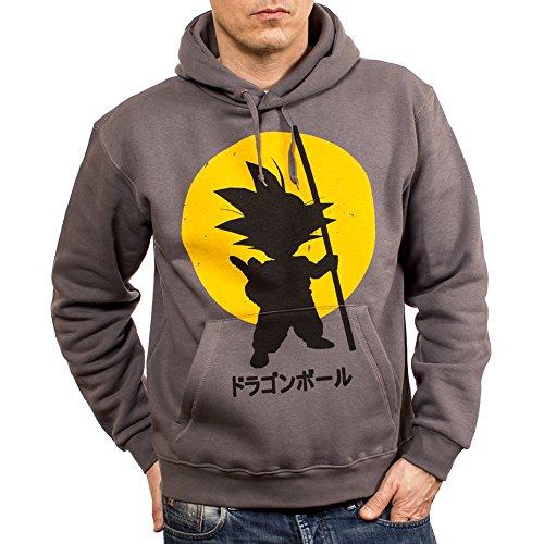 Son Goku Hoodie - Kapuzenpullover Dragon Z grau Größe ()
