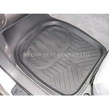 Peugeot 5008coche tapetes para suelo Deep Bandeja RM 500- Negro 4Piezas Goma de PVC.