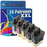PlatinumSerie 10x Tinten-Patrone XXL kompatibel für Brother LC900 DCP-115C Fax-1835C Fax-1840 Fax-1940 Fax-2440C
