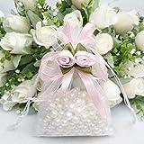 8806bd72c648 Sacchetti regalo in organza 20PCS Tulip high-grade dense borsa con coulisse  per confetti bomboniera