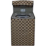 Glassiano™ Beige Colored Round Texture Printed Washing Machine Cover For Mitashi WMFA580K100 Fully Automatic 5.8Kg