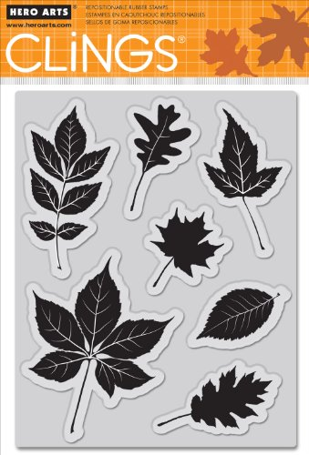 Hero Arts Gummi selbst Briefmarken 12,7cm x 6,5Sheet-Scattering Blätter -