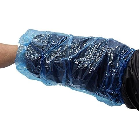 FreshGadgetz Coprimaniche monouso in Polyethylene - confezione da 100 copri maniche - proteggi maniche in Plastica