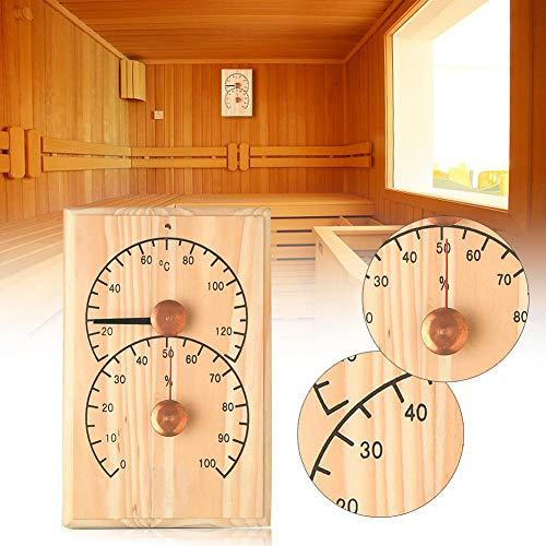 Wood.L Sauna Thermometer, Saunathermometer Hygrometer Aus Holz Präzise Digitale Feuchtigkeitsüberwachung Saunaraumzubehör