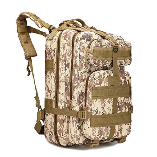 LF&F Militärfans Tarntaschen Sport im Freien Bergsteigen Tasche Reiserucksack Campingtasche taktischer Rucksack militärischer Rucksack große Kapazität 40L E