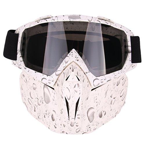 iVansa Maske für Nerf, Paintball Maske Taktische Schutzmaske Airsoft Maske mit Brille Gesichtsmaske für CS, Party, Skifahren -