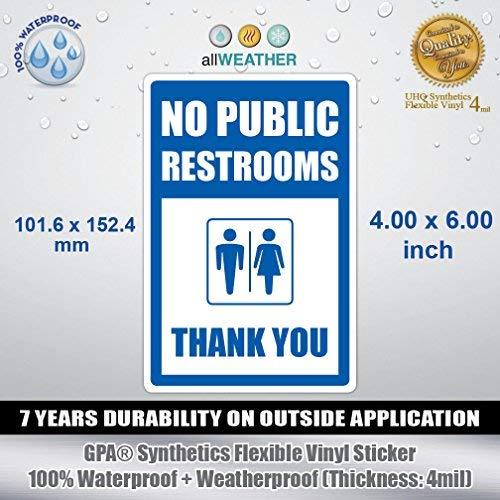 Gewölbte Fenster, Wand (Keine öffentlichen Toiletten Thank You-VINYL Aufkleber Wand Tür Fenster WC Store Schild)