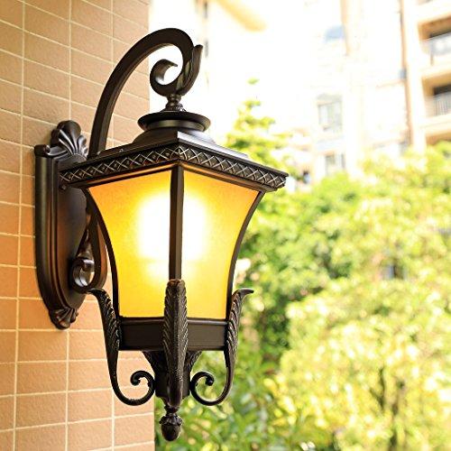 AMOS Rétro mur extérieur lampe étanche américain LED balcon lampe escalier couloir allée en plein air cour applique murale ( taille : L 35.5*62 cm )