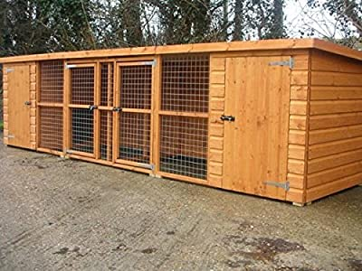 UK Kennels Wilton 16Ft X 4Ft Double Dog Kennel And Run