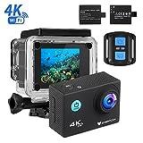 Action Cam 4k, icefox Unterwasser 30M Sport Action Kamera mit 2 wiederaufladbaren Akku, WIFI Fernbedienung, 2.0 Display, 1080P HD Aufnahme f�r Tauchen, Motorrad, Surfen, Bootfahren und Skifahren Bild