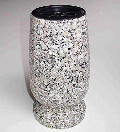 """'designgrab """"Classico pour Exclusiv XL Vase funéraire en granite Silésien/strie gauer/Dorn Berg cimetière Vase Pierre Tombale"""
