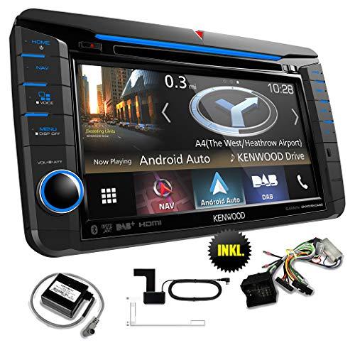 Kenwood DNX518VDABSKIM1 Navigationsgerät/Navi inkl. CAWKIMUN1 / CAWCKIMVW1 / CX-DAB1 für VW/SEAT/Skoda - Apple Carplay/Android Auto/Weblink / Hi.Res Audio/Bluetooth / Spotify/Dashcam-Link