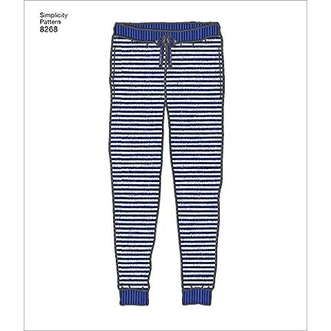 Simplicity 8268d'enfant/Ado de tricot fin à Jogger Patron de couture