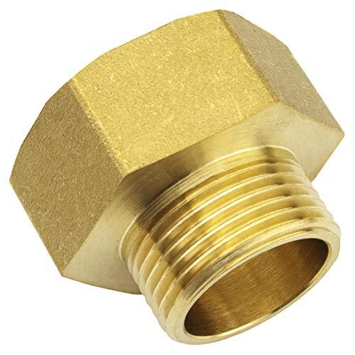 Premium 3/4 Zoll auf 1 Zoll Reduzierstück aus hochwertigem Messing robust und rostfrei Anschlussnippel Rohrstutzen