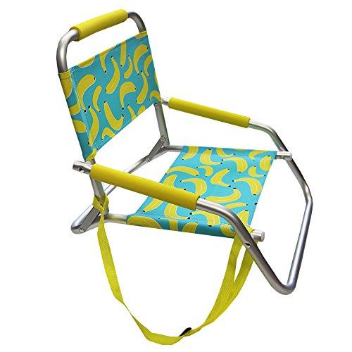 Just Contempo JC groß aufblasbar, Aluminium, Cool Bananas Beach Seat, 48 x 42 x 41 cm (Blow-up-pool-lounger)