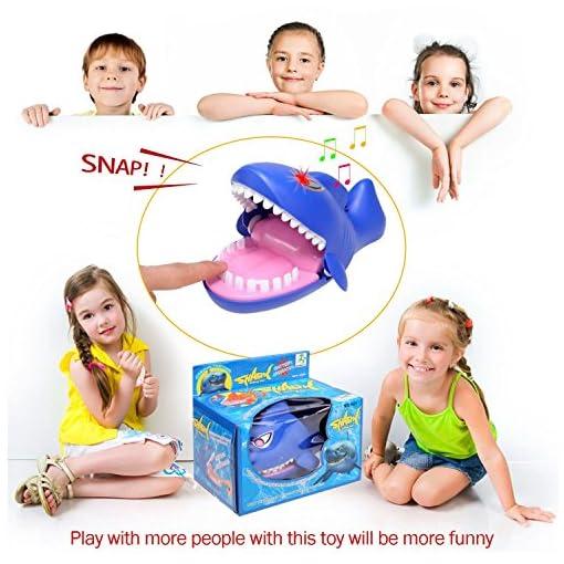 Aktion-Spiel-Geschicklichkeitsspiel-Hai-Doc-Haifisch-Kinderspiel-Schnapp-Spiel-blau