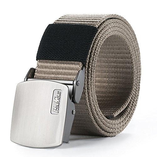 LLUFFY-Belt Unisex belt, tactic, canvas, smooth buckle, youth, brown wolf, 110cm