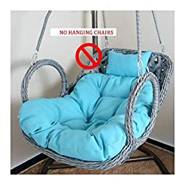 Coussin d'assise, Rectangle Coussin d'assise Swing Coussin Fauteuil Chaise De Rotin Swing Nid, Siège Rond Swing…