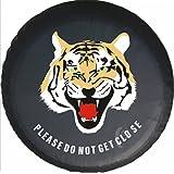 Housse de pneus housses de roue de secours tiger animal PU cuir protecteur (diamètre de 77cm,16 inch)