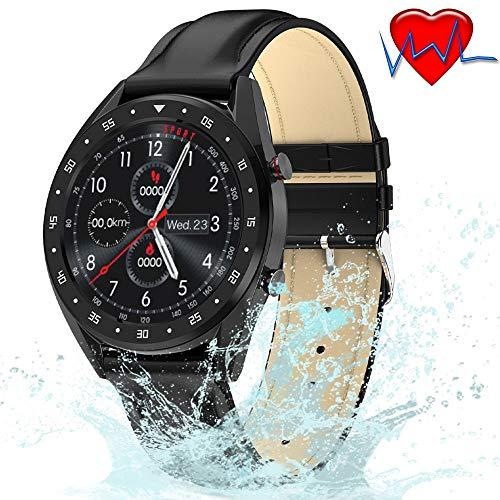 ZLI IP68 wasserdichte Smartwatch Mit Herzfrequenz- / Blutdruck- / Blutsauerstoff- / EKG-Monitor, 1,3-Zoll-HD-IPS-Display Für Frauen, Männer Und Ältere Menschen