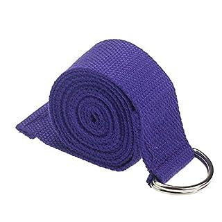 Atdoshop(TM) New Yoga Stretch Strap D-Ring Belt Waist Leg Fitness 180CM Adjustable (Dark blue)