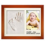 Bebé marco de fotos de creación de huella handbaby ducha regalo DIY Imprint Casting Kit creativo regalo para los padres personalizado recuerdos para bebé ducha registro Cumpleaños Regalo de Navidad
