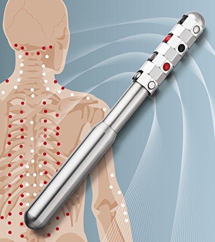 Lunavit Energystick, Micro-Akupressur Stab aus Edelstahl für Körper und Gesicht
