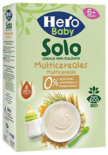 Hero Baby Solo Multicereales Papilla procedente de Agricultura Ecológica Pack de 6...