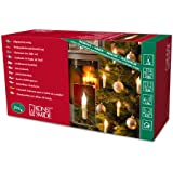 Konstsmide 2314-000 Baumkette mit gefrosteten Birnen und Wachsoptik / für Innen (IP20) /  230V Innen / 20 gefrosteten Birnen / grünes Kabel