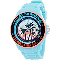 Ice-Watch F*** Me I'm Famous Turquoise Palm Silicon Strap Big Big 52mm FM.SS.TEP.BB.S