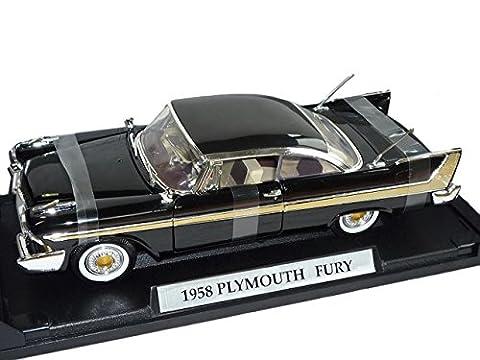Plymouth Fury 1958 Coupe Schwarz Oldtimer 1/18 Motormax Modellauto Modell Auto