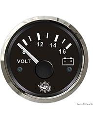 Voltmètre 8/16 V noir/polie