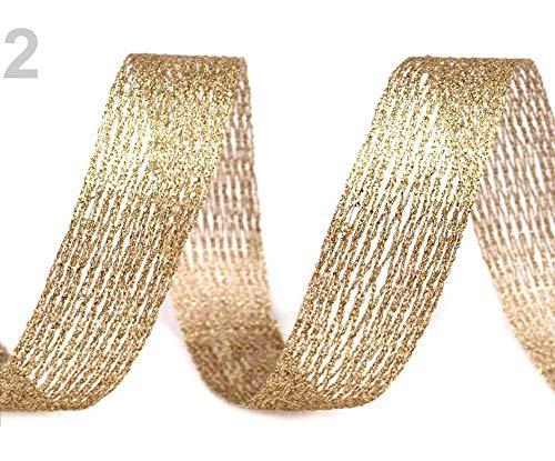 10m 2gold Netzband/Formband Mit Lurex Und Draht, Bänder, Schnüre Drähte Zum Arrangieren, Zubehör, Dekoration -