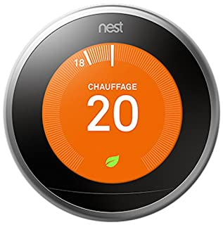 Nest Learning Thermostat 3rd gen. - Termostato inteligente (Acero inoxidable, Analógico, 53 x 53 mm, lithium-ion) Edición Francesa (B0182JP94W) | Amazon price tracker / tracking, Amazon price history charts, Amazon price watches, Amazon price drop alerts