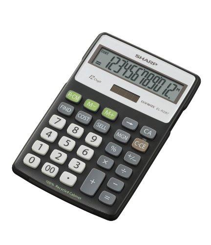SHARP-ECO, anzeigender Tischrechner, 12-stellig, 100% Recycling-Material, CSM-Funktion