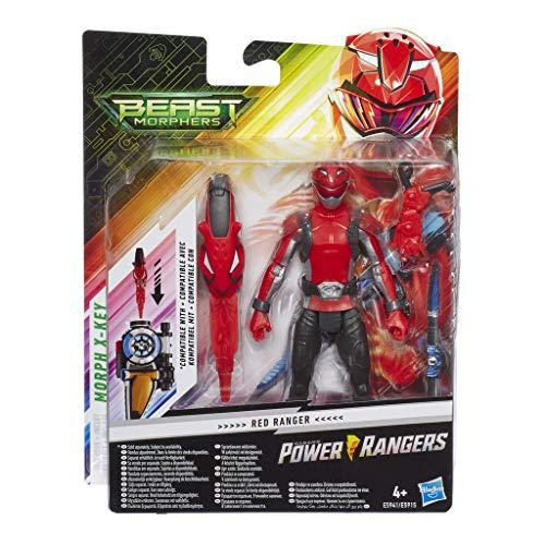 Power Rangers- Figura de acción Beast Morphers Ranger Rojo 15 cm, (Hasbro E5941ES0)