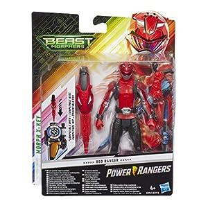 Power Rangers- Figura de acción Beast Morphers Ranger Rojo 15 cm, Multicolor (Hasbro E5941ES0)