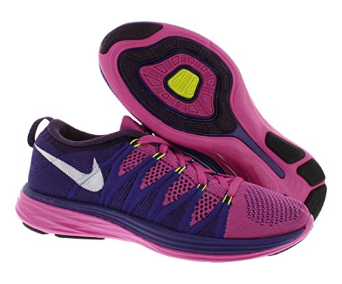 Flyknit lunar2 course Baskets Nike 620658 601 baskets chaussures Club Pink/White/Court Purple/Grand Purple