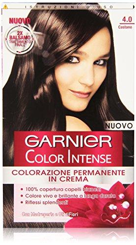 Garnier Garnier Color Intense Colorazione Permanente in Crema, 4.0 Castano