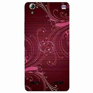 Brown & Pink Design - Mobile Back Case Cover For Lenovo A6000