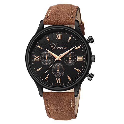 Jiameng orologio da polso, moda elegante orologio classico lusso cuoio del faux mens blu ray di vetro orologi al quarzo analogico orologio da cintura (multicolore)