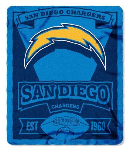 Northwest NFL Dallas Cowboys, Bedruckte Fleece-Decke, Damen Kinder Herren Unisex, NW-682368, San Diego Chargers, 50