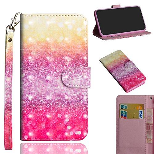 sinogoods Für LG X Power2/X Power 2/M320N/M320F Hülle, Premium PU Leder Schutztasche Klappetui Brieftasche Handyhülle, Standfunktion Flip Wallet Case Cover - Farbverlauf