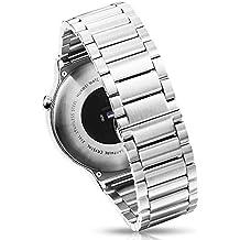 Huawei Watch Band, ttrees Correa Acero inoxidable reloj correas de banda para Huawei reloj 2015Release Huawei iWatch, Huawei three-bead smartwactch Bandas de pulsera