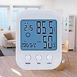 Younik Digitaler Thermometer/ Hygrometer- Halterung und Hängen Design mit Innenbereich Feuchtigkeits- bewachungs- Eigenschaften - Weiß