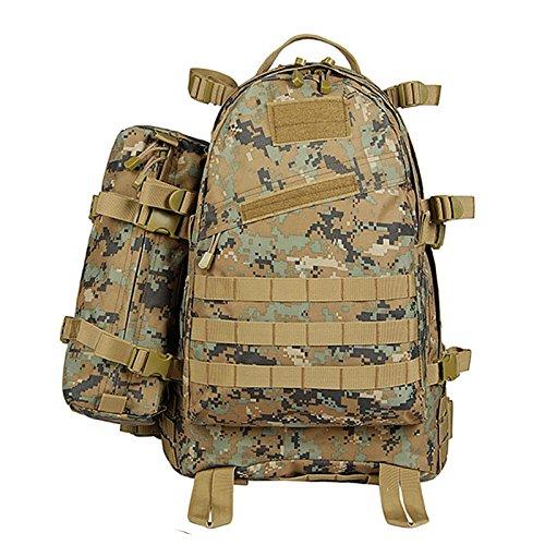 Outdoor schulter Rucksack männlichen und weiblichen Reisen wandern Rucksack Sport große Kapazität camouflage Bergsteigen Pack 52 * 37 * 18 cm, Schlamm Farbe (mit geschlossenen Paket), 45 Liter CP Camouflage (mit Verpackung)