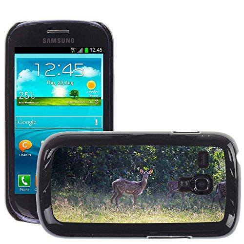 Grand Phone Cases Bild Hart Handy Schwarz Schutz Case Cover Schale Etui // M00142284 Deer Säugetier Braun Wildlife Animals // Samsung Galaxy S3 MINI i8190 - Case Handy Samsung Deer Galaxy S3