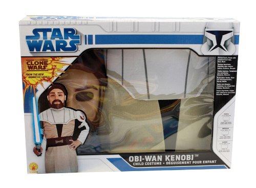 Obi Wan Kenobi Clone Wars Box Set Kostüm, Größe M (Obi Wan Clone Wars Kostüm)